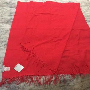 Nordstrom Wool/Cashmere Red-Orange Scarf NWT
